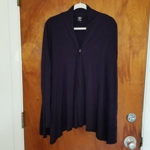 Navy XL Bobeau Sweater with Metal Snap